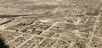 Aerial 9 Mile and Wanda Looking southwest c1949 Photo