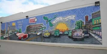 Mural at 9 Mile and Allen 2005 Photo