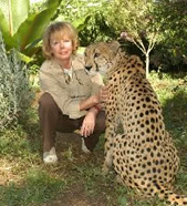 Iris Hunt and rescued Cheetah
