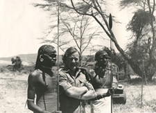 Don and 2 Samburu Warriors