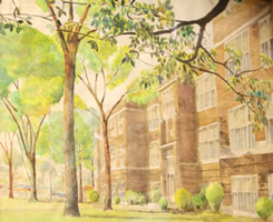 Lincoln High School Watercolor Painting 1956 Photo