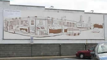 Mural on Record Collector Building 2007 Photo