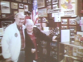 Ray and wife Mary at Museum