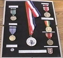 Ray's various medals